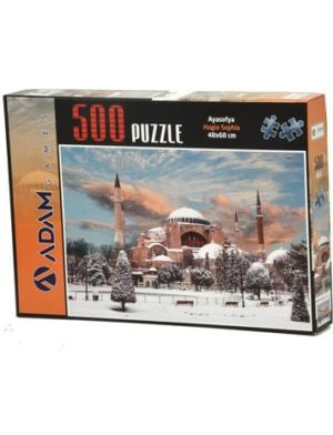 Puzzle Yapboz Ayasofya 500 Parça Puzzle (48x68) TürkçeKitap