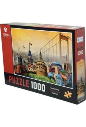 Puzzle Yapboz İstanbul Kolaj 1000 Parça Puzzle (48x68) TürkçeKitap