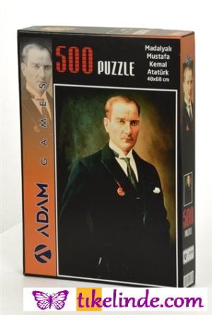 Puzzle Yapboz Madalyalı Mustafa Kemal Atatürk 500 Parça Puzzle (48x68) TürkçeKitap
