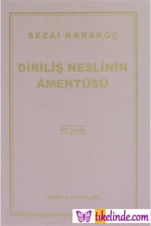 Kitap Sezai Karakoç Diriliş Neslinin Amentüsü TürkçeKitap