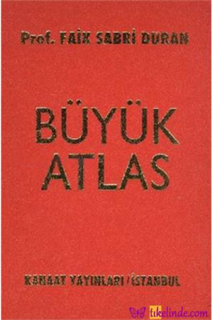 Kitap Faik Sabri Duran Kanaat Büyük Atlas TürkçeKitap