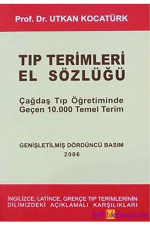 Kitap Utkan Kocatürk Tıp Terimleri El Sözlüğü TürkçeKitap