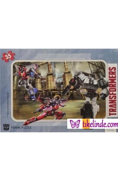 Puzzle Yapboz Ca Games Transformers Frame Puzzle 2 Yeşil (35 Parça) TürkçeKitap