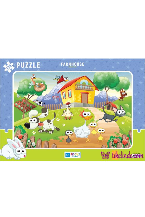 Puzzle Yapboz Çiftlik Evi 130 Parça Puzzle (bf173) TürkçeKitap
